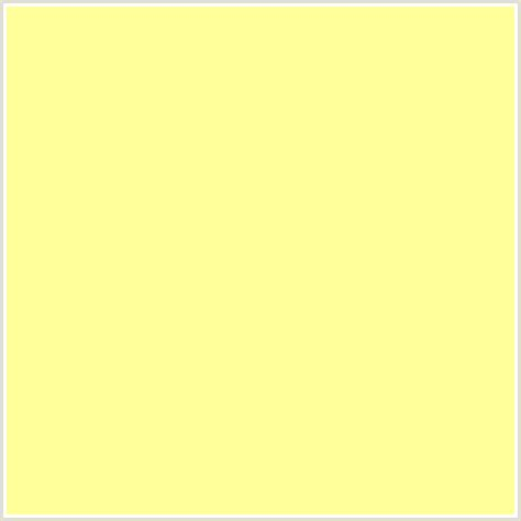 light yellow color ffff99 hex color rgb 255 255 153 pale canary