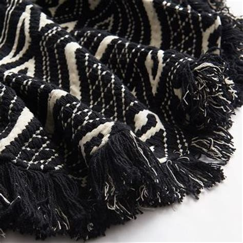 black and white ikat rug paper source