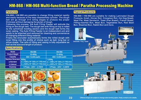 Trans Bun Bean Filling 1 Kg multi function bread paratha bun processing machine