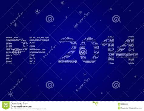 multilanguage pf 2014 royalty free stock image image