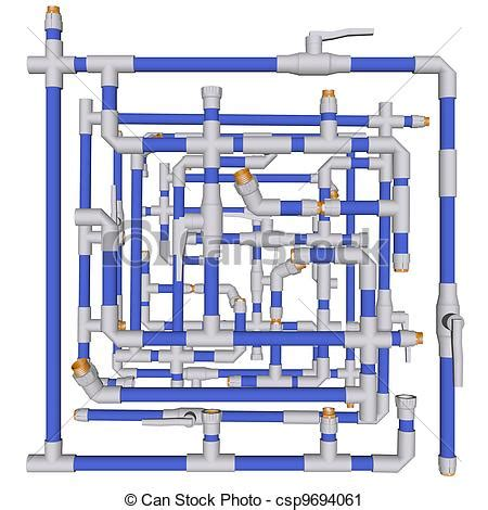 Plastic Plumbing Systems by Clipart Of Pipeline Water Plumbing System Fittings Pvc On