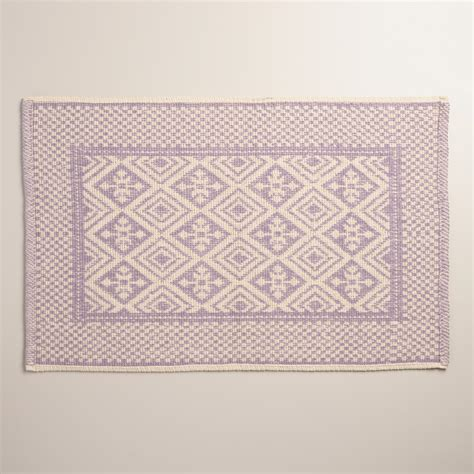 Jacquard Bath Rug Lavender And Ivory Jacquard Bath Mat World Market