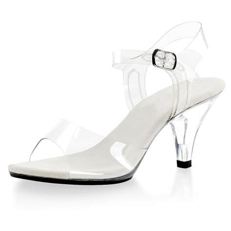 acrylic sandals simple strappy sandals s peep toe 3 inch clear