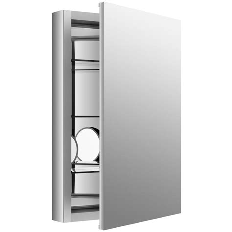 kohler aluminum frame medicine cabinets shop kohler verdera 20 in x 30 in rectangle surface