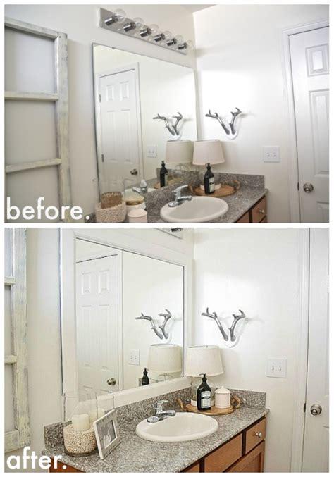 diy framed bathroom mirrors