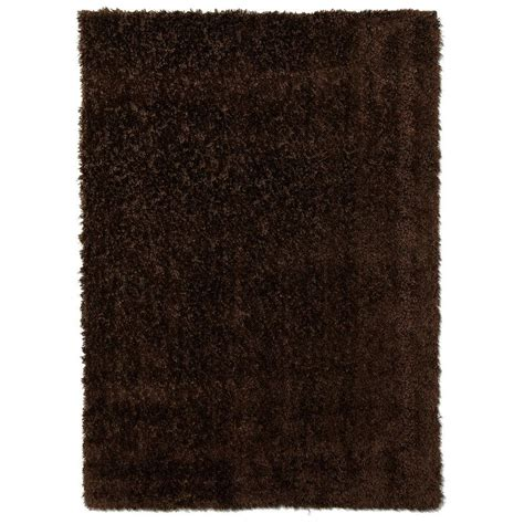 Spaces Home Beyond Eyelash Shag Brown 5 Ft X 7 Ft Shag Rug