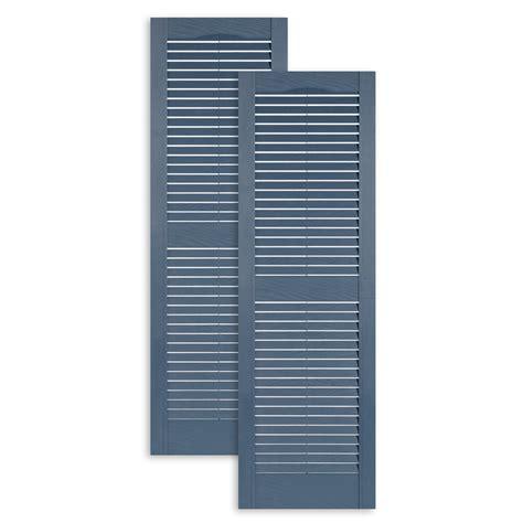 standard one exterior vinyl louver shutters