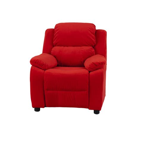 red microfiber recliner deluxe padded contemporary red microfiber kids recliner