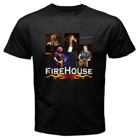 black house music group firehouse fire house rock band music legend men s black t shirt size s 3xl ebay