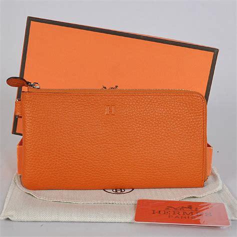 Jual Dompet Hermes Name Card Black Mirror Quality hermes orange litchi veins leather zipper wallet replica handbags