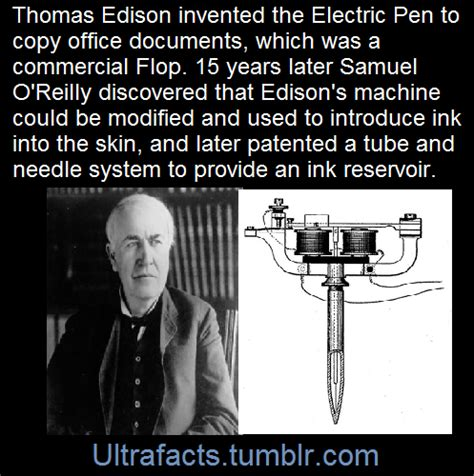 thomas edison tattoo the predecessor to the machine was the electric pen