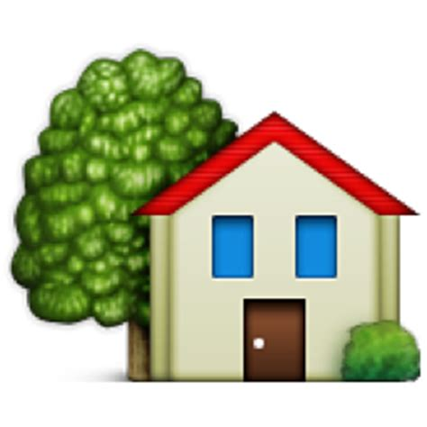 house with garden emoji u 1f3e1 u e036