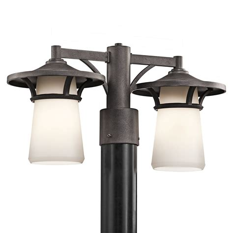 modern outdoor l post contemporary outdoor post light fixtures kichler