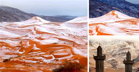 snowfall in sahara desert snow falls in the sahara for first time in over 37 years