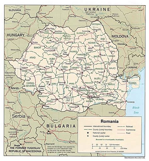 maps  romania detailed map  romania  english