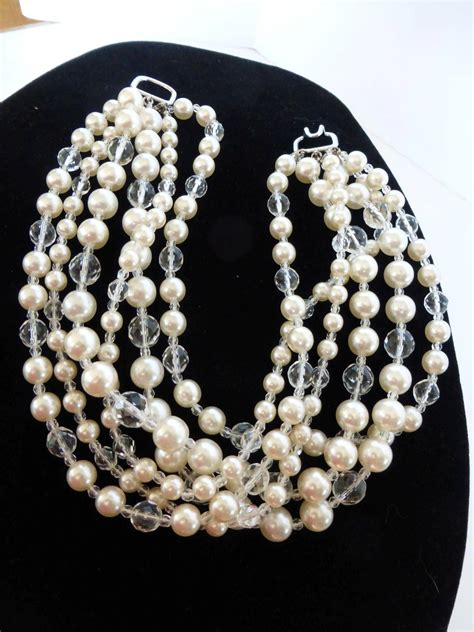 Jeweled Magnificence Kenneth by Magnificent Kenneth Signed Faux Pearl Cut
