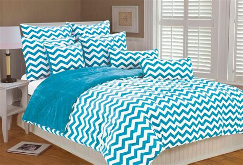chevron bed sets chevron bedding in turquoise and white panda s house
