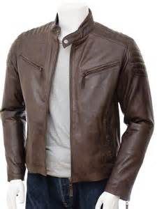 Leather Jacket Mens Mens Brown Biker Leather Jacket Maikop Caine