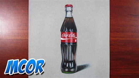 dibujos realistas botella como dibujar una botella de coca cola dibujo realista