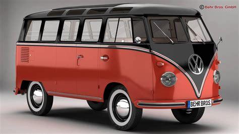 volkswagen type 2 volkswagen type 2 samba 1959 3d model buy volkswagen