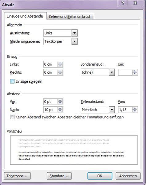 Lebenslauf Vorlage Für Word 2010 Word Absatzformatierung Office Lernen