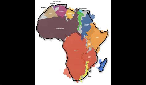africa map distortion africa bigger than you think greenland much smaller