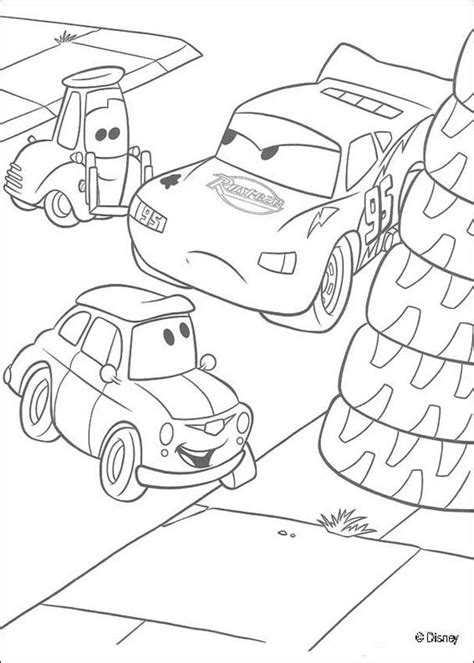 cars guido coloring pages guido and lightning mcqueen coloring pages hellokids com