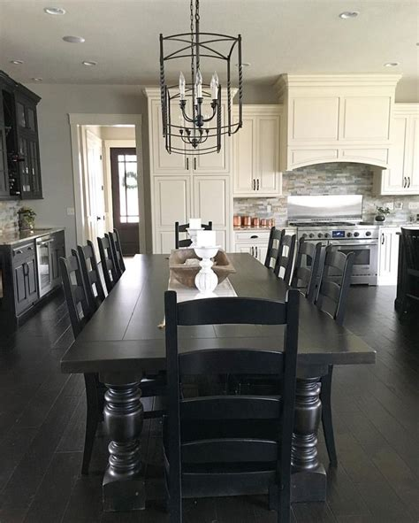 long dining room table best 25 black kitchen tables ideas on pinterest black