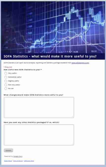 sofa statistics review easier to get started and to give feedback 171 statistics