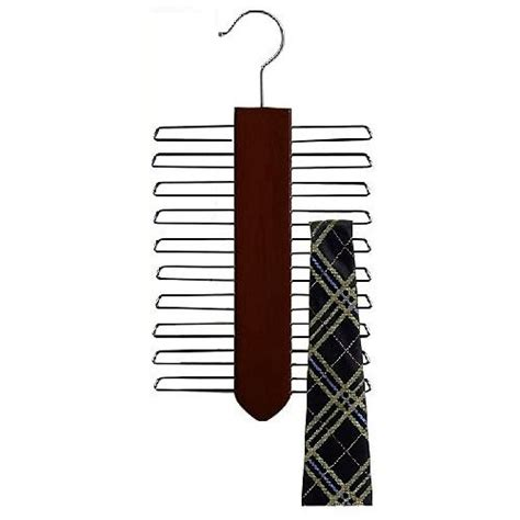 How To Hang Ties Without A Tie Rack by Wooden Vertical Tie Hanger Walnut Chrome Product