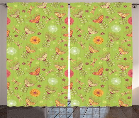 artsy curtains floral curtains 2 panels set bluebell flowers artsy home