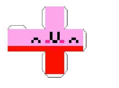 Papercraft Kirby - papercraft kirby cube better size