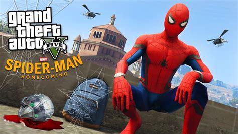 mod gta 5 spiderman spider man homecoming gta 5 mods youtube