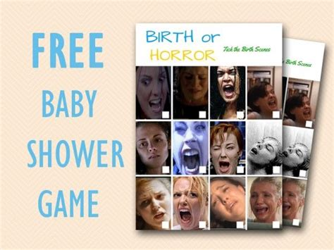 The Horror Birth Causes Bleeding In Babys by Free Baby Shower Printable Guess If Birth Or Horror