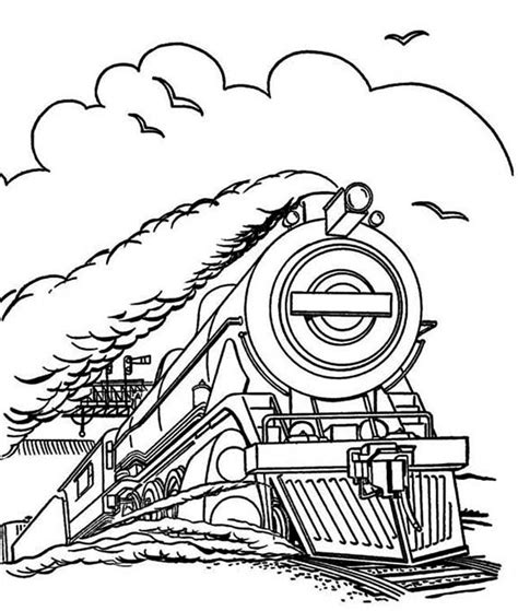 Steam Locomotive Free Colouring Pages Steam Locomotive Coloring Pages