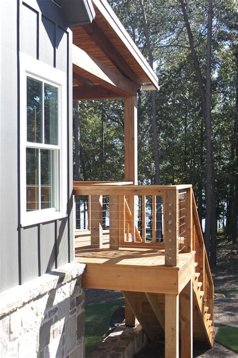 open living floor plan lake house design  walkout