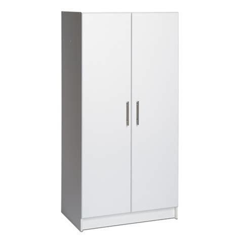 armoir rangement armoire de rangement elite de 32 po de prepac wes 3264 blanc classeurs et