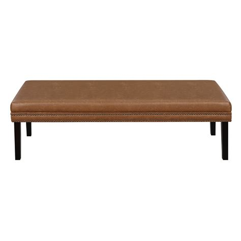 leather bed bench charlton home rosanna upholstered leather bedroom bench