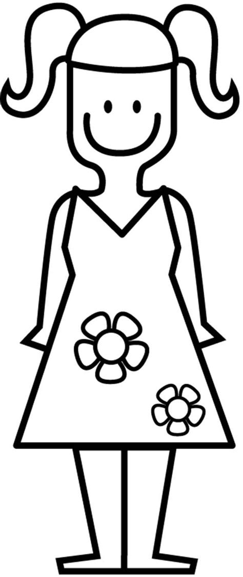 coloring page girl in dress cute little girls coloring pages az coloring pages