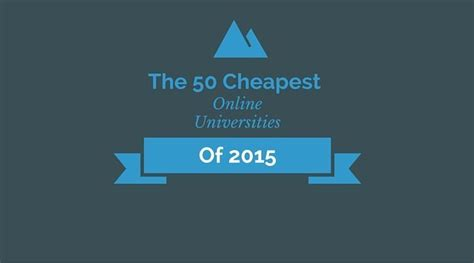 patten university financial aid the 50 cheapest online universities online course report