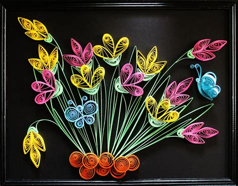 art design ideas quilling wall art frames model and designs quilling designs