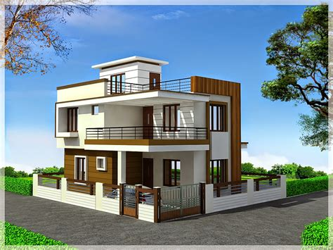 duplex houses ghar planner leading house plan and house design