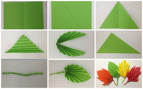 How To Make A Leaf Out Of Paper - paper crafts how to make phpearth