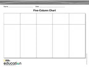 Free Column Templates by Best Photos Of Printable Column Template 7 Columns 4