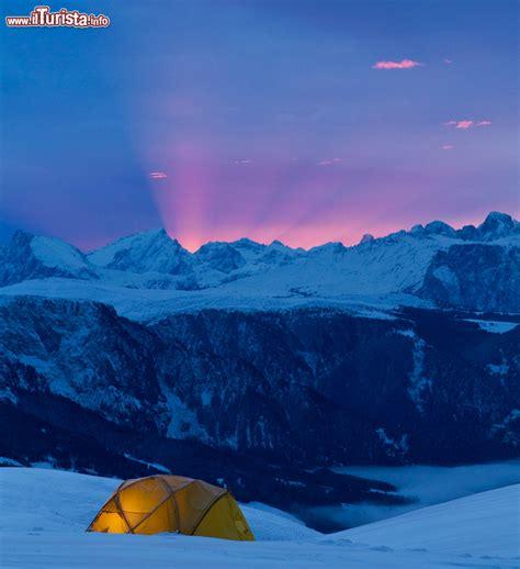 tenda montagna dormire in tenda sulla neve al salewa basec merano