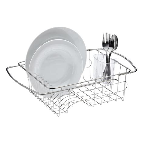 Stainless Steel In Sink Dish Drainer The Container Store