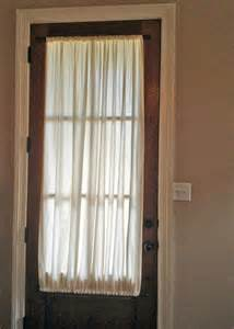 Curtain Front Door Beautiful Sheet Curtains Front Door Woodframe Glass Decobizz