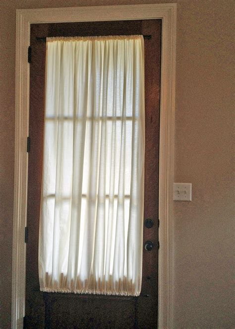 Curtains For Door Window by Beautiful Sheet Curtains Front Door Woodframe Glass