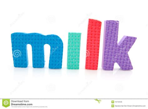 word milk in foam letters royalty free stock photo image