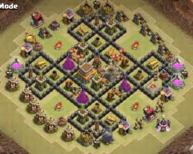 Best th8 war base anti dragon with bomb tower town hall 8 war base